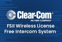 FSII Wireless Licence Free Intercom System