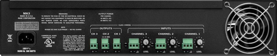 MA3 Multichannel Amplifier - News