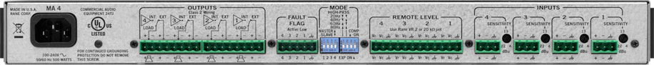 MA 4 Multichannel Amplifier - News