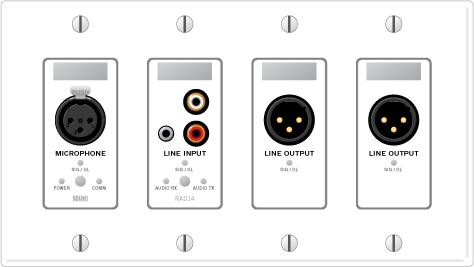 RAD14 – XLR Mic Input / Mini & RCA Mono'ed Line Input / Dual XLR Line Outputs - News