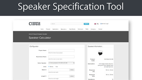Have you tried a new Cloud Speaker Specification Tool yet? - News