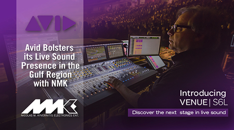 Avid Bolsters its Live Sound Presence in the Gulf Region with NMK Electronics