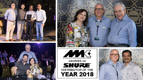 NMK Awarded as Shure's Distributor of the Year 2018 - News