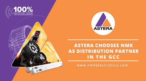 Astera Lighting Chooses NMK Electronics as their Distribution Partner